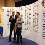 Good luck to @J_Warrington at @fdarena on Saturday night. Hes here at Elland Road tonight. http://t.co/D1AXUga8Vt