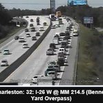 RT @lvanliewlive5: SCDOT Camera shows 1 lane moving around accident on I26WB mm214 #chstrfc http://t.co/79QThyIyDv