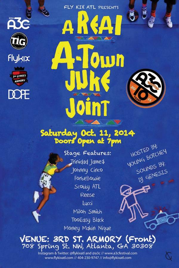 We're bringing one of Top 5 A3C stages to you. Don't miss it! #ArealAtownJukeJoint http://t.co/MjZC5xJiSL