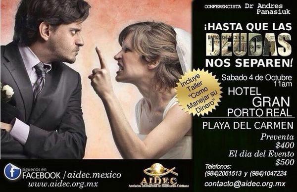 RT @playaenmano: Hasta qué las deudas nos separen en #PlayadelCarmen Hotel Gran Porto Real 4Oct 11:00AM http://t.co/7USNpSdUg4