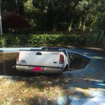 RT @MountPleasantPD: Picture of the vehicle in the pool in the Old Village. Driver fled on foot. #mtpsc #chstrfc ^check http://t.co/kDh9kj0wTv