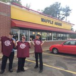 Starkville bound!Met Nora at Waffle House in hometown of Miss Sts Dak Prescott. Turns out theyre Aggies #AOroadtrip http://t.co/zTriSTxlLm