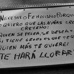 """""""Necesito feminismo porque ..."""" http://t.co/97oS2UzsrK"""