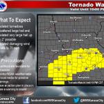 RT @NWS_Southern_US: RT @NWSKansasCity: Tornado Watch until 10 PM CDT. Does not include immediate KC metro http://t.co/o0Jf5qlhba