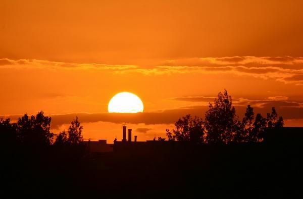 First October 2014 #sunset over #Dublin (2): http://t.co/CdhkfxzdzC