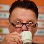 Louis van Gaal watching Welbeck completing his hatrick.. http://t.co/B5InARbpAj