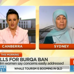 RT @sunriseon7: BURQA DEBATE: Maha Abdo from the Muslim Womens Association takes on MP Jacqui Lambie WATCH: https://t.co/BVJ1biAGh3 http://t.co/OwAWAI543h