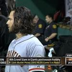 RT @MLBFanCave: .@bcraw35 joins the @SFGiants #Postseason grand slam club. #WildCard http://t.co/PCyNfP9ygW