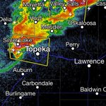 8:17 PM that storm over West Topeka needs to weaken! Hail in that one moving toward #Lawrence. @6NewsLawrence http://t.co/rReT7T0jf3