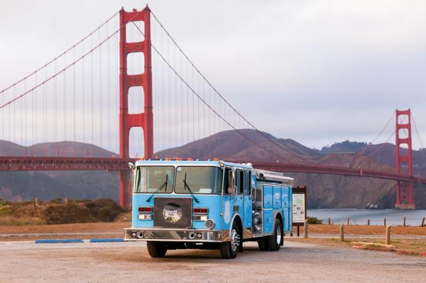#NestFiretruck hits the road from SF to travel 3,000+ miles to the East Coast. RT if you want it to stop near you. http://t.co/ZvgaC3mCWn