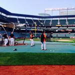 RT @Orioles: #Orioles workout underway. #WeWontStop http://t.co/C5gOt0XkL2