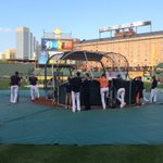 The #Orioles are going through their pre-ALDS workout... http://t.co/O7BEj7ydxW