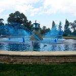 City of Fountains has gone blue thanks to @KCMO! #TakeTheCrown http://t.co/ZmCSO9myOc