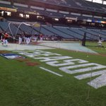 RT @MarkWJZ: Playoff paint on the field during Os batting practice at Cam Yds. Thats SO October. #MLBplayoffs http://t.co/0WgEV2b4wp