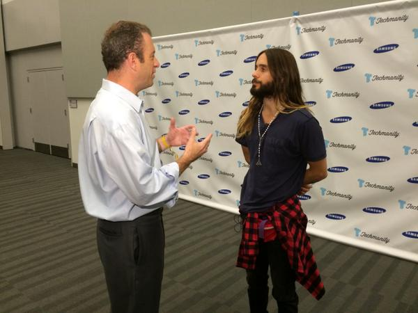 Talking tech and music with Jared Leto. #Techmanity http://t.co/fj70bGZRKO