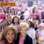 #PinkPower on the plaza this morning was something to behold! (cc: @hodakotb & @JoanLunden) #100happydays #Day93 http://t.co/GhCGQAZuog