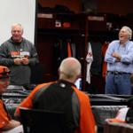 RT @Orioles: Who better to talk to the team about the Postseason than Mr. Oriole himself? Brooks spoke pre-workout. #WeWontStop http://t.co/kFI4AX1orY