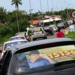 RT @marcofelipak: Carreata de Requião xinga e faz sinais obscenos para os moradores do litoral #Vergonha carros contratados de Curitiba http://t.co/DZuZQDJ69p