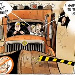 Does it say anything about exiting the vehicle? Pat Campbell cartoon via @theage #auspol #qldpol #Senate #Palmer http://t.co/CmT8ZhI2Mf