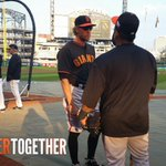 RT @SFGiants: Panda +Pence Pregame Peptalk #StrongerTogether #OctoberTogether http://t.co/Yy1WD7Ezre