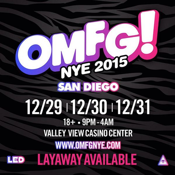 SAVE THE DATES for a 3-Day @OMFGNYE celebration! Are you as excited as we are?! #OMFGNYE #OMFGNYE2015 #OMFGNYESD http://t.co/PO2Avfquyj