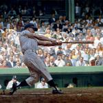 On this date in 1961, Roger Maris hit homer No. 61.  Painting via @GraigKreindler http://t.co/L4a9THSidJ
