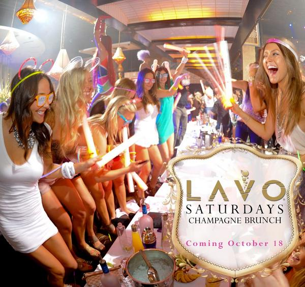 Your favorite winter day party is back! LAVO Saturdays #ChampagneBrunch begins Oct 18. Reservations brunch@lavolv.com http://t.co/iYrEExLKcb