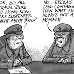 RT @SCMP_News: Political cartoonist Harry Harrison on Beijing suspending tour groups to Hong Kong http://t.co/V2RGE5Q6jZ http://t.co/wEIeVNsea7