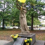 #UBC Goddess of Democracy has an umbrella today. http://t.co/6HsbZt6Ad0