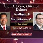 RT @BenWinslow: Heres how to watch tonights debate between @seanreyesag and @Stormont4ag. #utpol #utdebates http://t.co/kOQQXs3JeI
