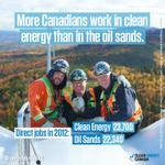 RT @cleanenergycan: Paycheque Reality Check: More Canadians work in clean energy than in the oil sands trackingtherevolution.ca #cdnpoli http://t.co/rvdoLql5Dn