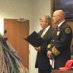 Mayor Hanna reading Fire Prevention Week proclamation, joined by @appletonfire Chief Len VanderWyst. #Appleton http://t.co/jQxNlruwZh