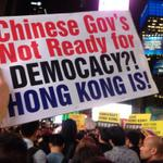 RT @PatrickKwan: In NYC Times Square in solidarity with Hong Kong for democracy. @NY4HK #NY4HK #UmbrellaMovement #OccupyHongKong http://t.co/TBnqsL3RuE