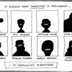 RT @StanSteam2: ... a cartoonists nightmare Leahy cartoon #auspol #burqa #distractions http://t.co/Tq0YcVgTQD