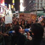RT @shako_liu: What a scene at time square tonight. New Yorkers for Hong Kong. #OccupyCentral #OccupyHK http://t.co/C1F8nYJW6X