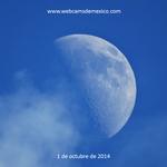 La luna hoy a las 18:00 hrs en el cielo de México. ¡Qué tal! http://t.co/CwSWbGcf52