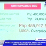 COA: Makati orthopaedics beds overpriced by 1,893%. http://t.co/foJlk3DBuh