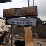 RT @jenn1marsh: Hong Kong street sign points way to True Democracy Road #OccupyCentral http://t.co/cZOYo0UJ7S