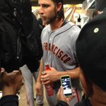 RT @AlexPavlovic: Madison Bumgarner, always with at least two beers: http://t.co/MdK6oXhCun