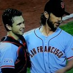 RT @SFGiantsFans: The starting battery tonight for your #SFGiants http://t.co/4JPQ2mrhDl