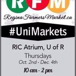 RT @MarketRegina: Here we go! #UniMarkets start tomorrow, 10 to 2. Research & Innovation Center Atrium @UofRegina. #yqr #getlocal http://t.co/0hmheAtIYs