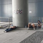 Slow start on a hot fifth day of #OccupyHK as exhausted protesters sleep past 1 pm outside government buildings http://t.co/OQ8VEgShVX