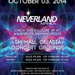 RT @MYXphilippines: FLASH PROMO: Win free tickets to NEVERLAND MANILA! Join here: http://t.co/ecpFPYmZvl http://t.co/G0iMaXSoDG