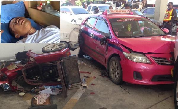 โชเฟอร์แท็กซี่ป่วยโรคลมชัก คุมตัวเองไม่อยู่-ขับรถชน 3 คันกลางปั๊มปทุมฯ : ข่าวสดออนไลน์ http://t.co/hYlh9LP9I0 http://t.co/zC5IxiAlgY