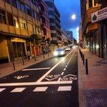 Finalizada la señalización del carril bici de la C/ Fernando Guanarteme #movilidad @LasPalmasenbici http://t.co/rPoMsOsUPp