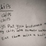 Smallest daughters poem about chips written when she was 5, for #NationalPoetryDay http://t.co/8mZqkqwF4M