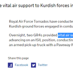 """RT @Brown_Moses: If """"vital air support"""" to the Peshmerga is one bomb dropped on an ISIS pick-up then things are worse that I thought http://t.co/Cjn6Ai26gO"""