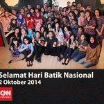 RT @detikcom: Selamat Hari Batik Nasional dari @CNNIndonesia #BatikDay http://t.co/eWqJko7PQO