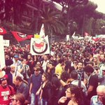 RT @syndicalisms: #Italy: Thousands demonstrate in day of action against bankers and the ECB meeting in Naples. #BlockBCE http://t.co/Mf6jVZ58lV