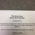 RT @GreenZoneScott: Wanna go to the #Riders game tomorrow?!?! Make sure you are listening to The #GreenZone from 4-7 today on @CJMENews! http://t.co/TehAozmVM0